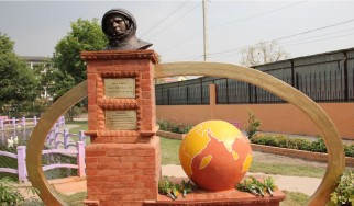 Установка бюста Ю.А. Гагарину в  г.Катманду