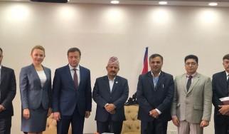 Встреча заместителя Руководителя Россотрудничества П.А. Шевцова с Министром образования Непала.