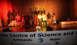 """""""बाल मन्दिर"""" का बाल बालिकाहरुका लागि नव बर्ष को उपलक्ष्यमा रुसी विज्ञान तथा संस्कृति केन्द्र काठमाडौँमा आयोजित कार्यक्रम"""